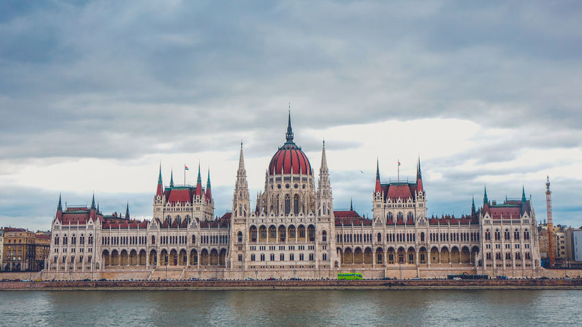 Parliament building in Budapest, Hungary Architecture Budapest Budapest Streetphotography Budapest, Hungary Danube Parliament Building Parliament Building, Budapest Parliament Of Hungary Building Exterior Built Structure Builting Cloud - Sky Danube River Government No People Parliament Water