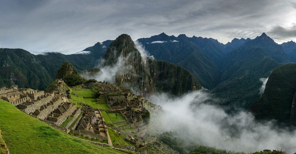 Machu Picchu Machu Picchu - Peru Tea Crop Tree Water Irrigation Equipment Mountain Agriculture Rural Scene Terraced Field Field Sky