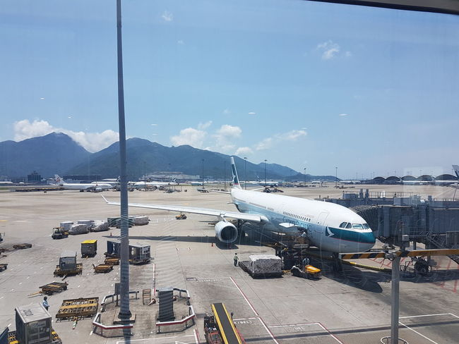 Mountain Outdoors Airport Airplane самолет Гонконг аэропорт путешествия