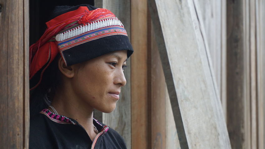 Red Dao lady in Traditional Clothing Ethnic Minority from the highlands of north Vietnam Unedited No Edit/no Filter Ethnicity People TheWeekOnEyeEM Culture Showcase July