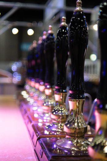 Beer Pumps Bartap Pump Handle Beer Illuminated Indoors  Lighting Equipment Night No People Close-up