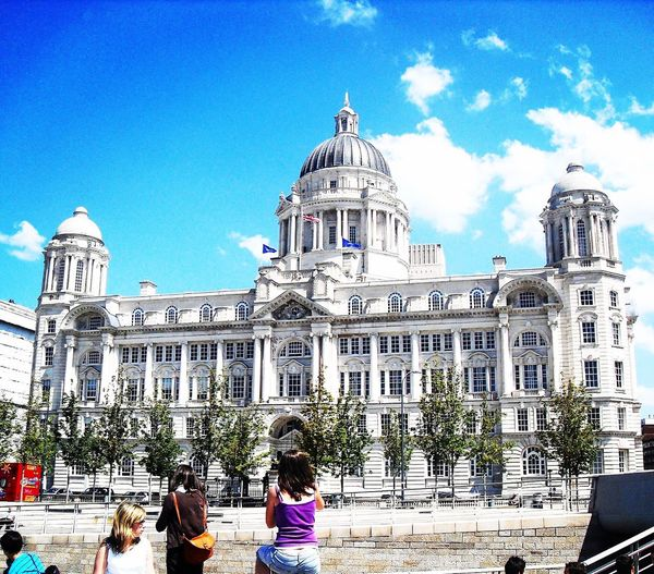 Liverpool Architecture Building Exterior Built Structure Dome Tourist Rear View Lifestyles Leisure Activity Tourism Incidental People Casual Clothing Person In Front Of Travel Destinations Façade Famous Place City Day Blue Outdoors Travel 2011