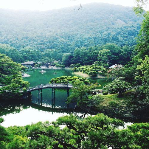 Beautifully Organized Japan Kagawa Japanese Garden Garden Ritsurin Park - Takamatsu - Japan Ritsurin Garden