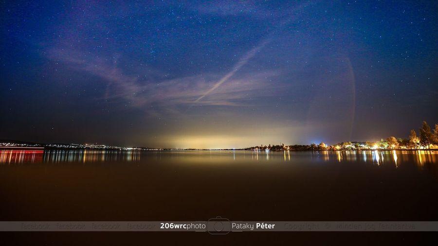 Sukoro-Gardony-Velence Night Star - Space Sky Beauty In Nature Nature Outdoors Gárdony Velencei-tó Sukoro Lights Lake First Eyeem Photo