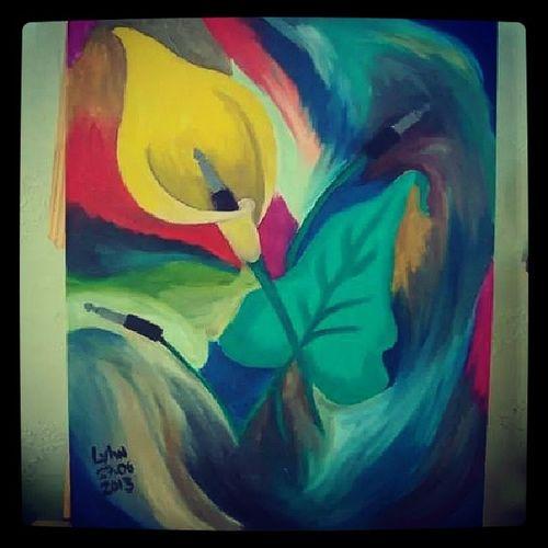 Uma das minhas telas preferidas.. CopoDeLeite Flower Music Painting