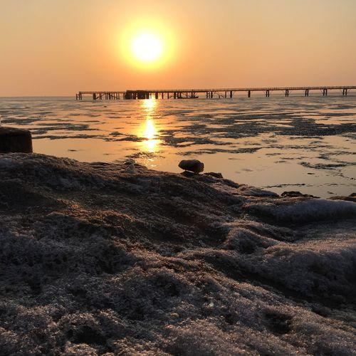冰与夕阳共存 First Eyeem Photo