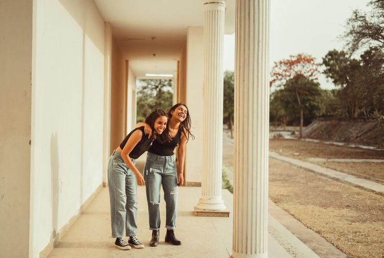 Women standing in corridor