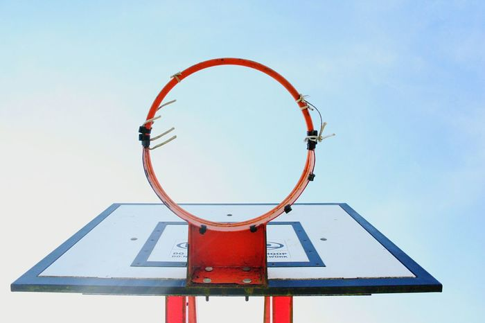 Sky No People Red Clear Sky Outdoors Day Challenge EyeEmNewHere ExploreEverything Adventure Basketball Hoop Hoop Park Basketball Court Backgrounds Backboard Art Is Everywhere EyeEm Diversity Break The Mold The Street Photographer - 2017 EyeEm Awards