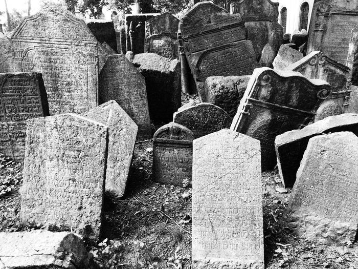 Jewish District Prague Czech Republic Architecture Building Exterior Built Structure Cemetery Day Grave History Jewish Cemetery No People Old Old Ruin Outdoors Religion Solid Stone Stone Material The Past Tombstone