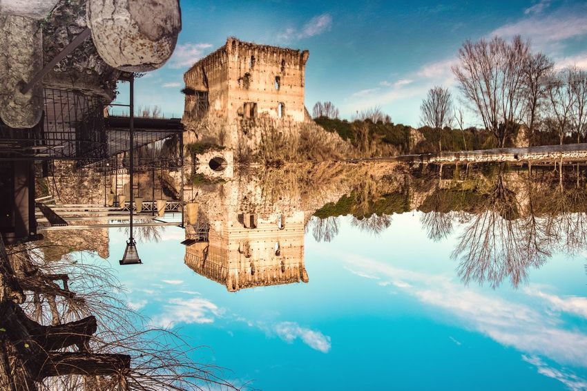 Upside-down Reflection_collection Travel Borghitalia Borghipiúbelliditalia Borghiditalia Traveling Travel Destinations Travel Photography Landscape_Collection Landscape_photography EyeEm Selects Water Tree Swimming Pool Puddle Reflection Waterfront Sky Architecture Building Exterior Built Structure Reflecting Pool Standing Water Pond Reflection Lake Lakeshore Calm