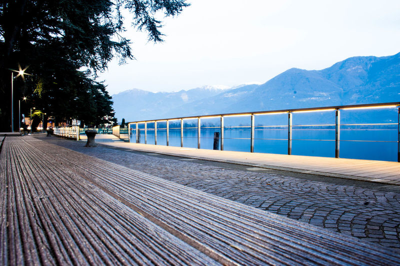 Beauty In Nature Day Iseo Lake Langbart Lovere Lovere Lake Mountain Mountain Range Nature No People Outdoors Public Transportation Rail Transportation Scenics Sky Transportation Travel Destinations Tree Water