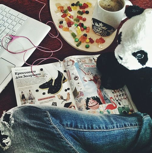 джинсы панда Starbucks Music Haribo ноутбук старбакс харибо Yesmagazine Yes