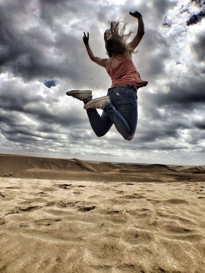 Jump Beachlife DunasDeMaspalomas Dunes Sand Go Higher