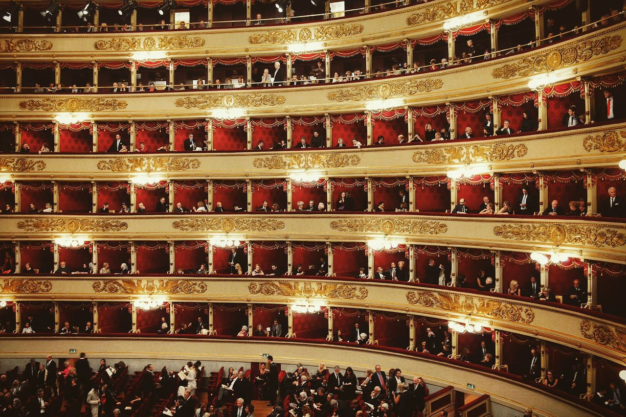 Full frame shot of illuminated opera house