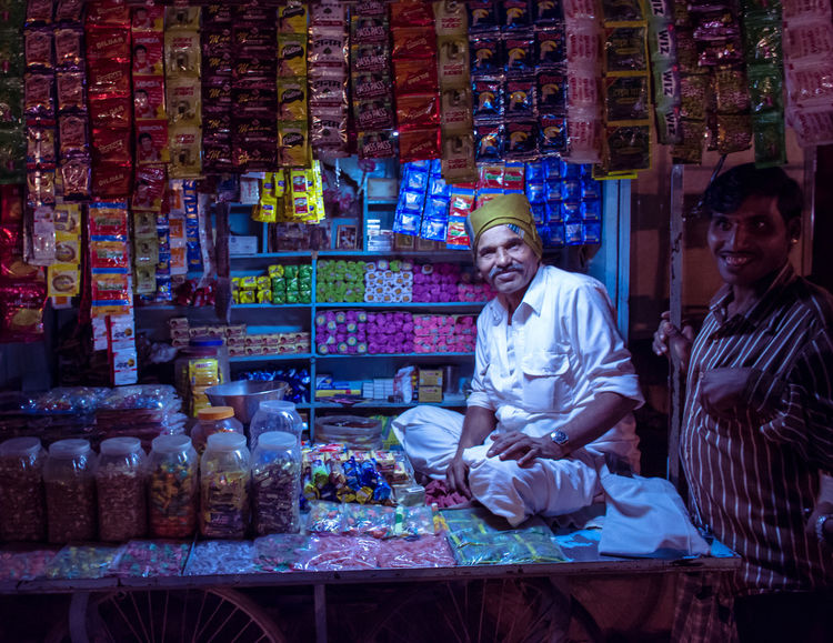 Culture India Indian Paan People Shopkeeper Sweets Sweetshop Welcoming Showcase: December