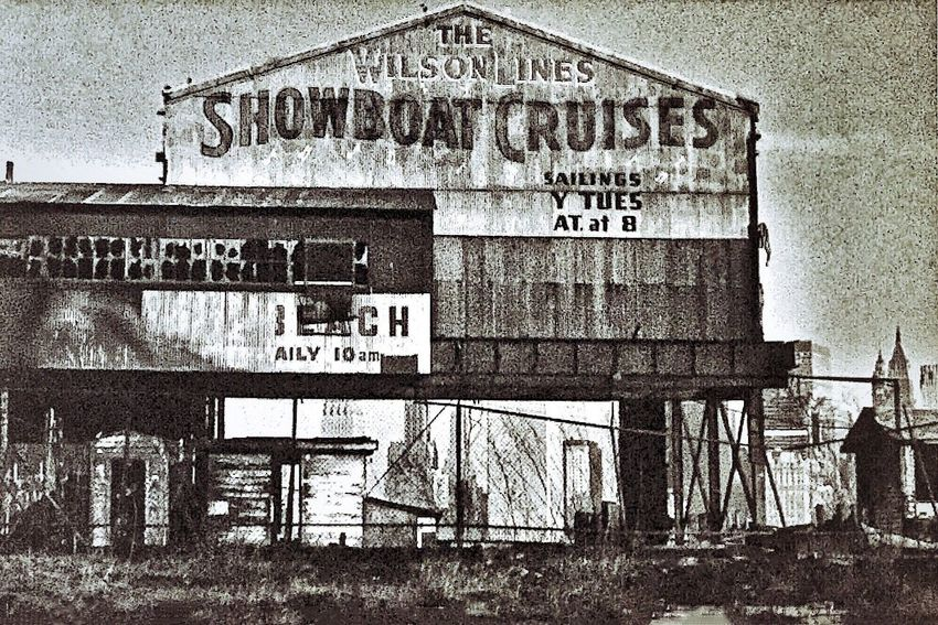 SHOWBOAT CRUISES ~ 1972 ~ Jersey City, New Jersey USA Text Communication Sky Day No People Built Structure Outdoors Architecture Close-up Docks Walker Evans Edward Hopper Ghosts Relicsofthepast Patina_perfection Kcac Artist Abandoned Field American Dream Urbanexploration Urbanphotography