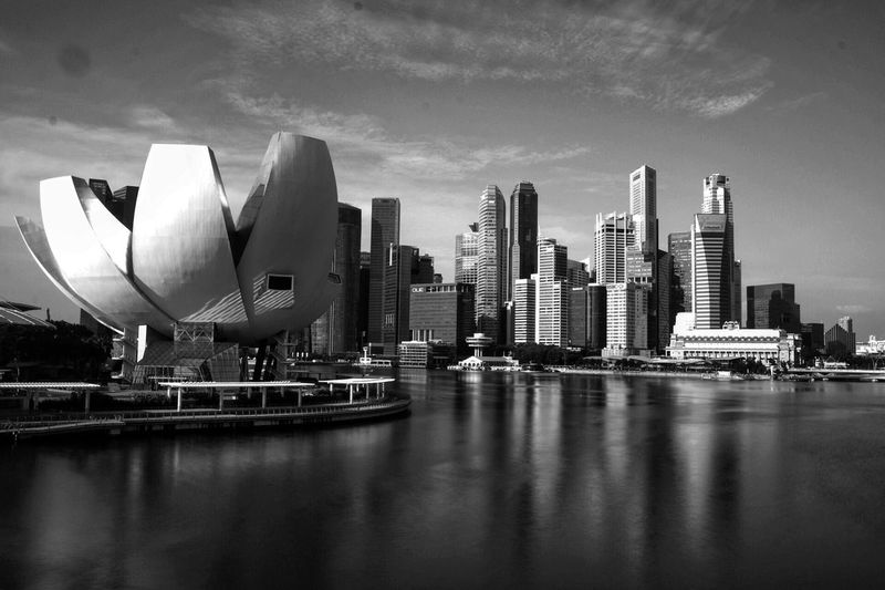 Architecture City Building Exterior Modern Travel Destinations Built Structure Skyscraper Outdoors No People Water Sky Day Urban Skyline Marina Bay Sands Bnw Bridge - Man Made Structure Singapore Sg Mbs