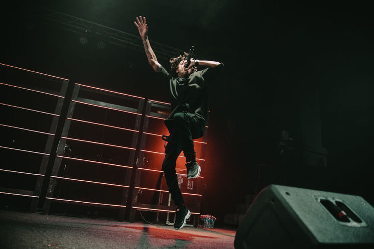 Scarlxrd performing at Loftas in Vilnius, Lithuania One Person Arts Culture And Entertainment Stage Performance Concert Livestock Music Rap Scarlxrd Jump Performing Arts Event Live Music Vilnius Loftas