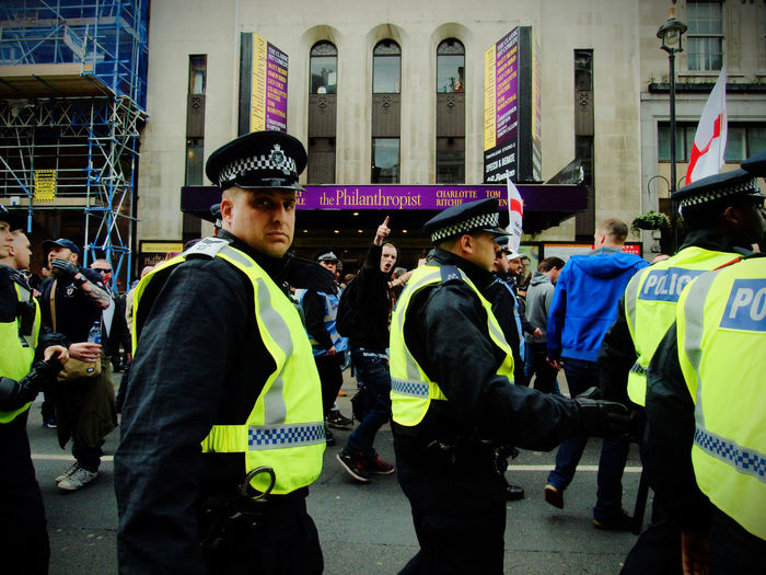English Defence League and Britain First protests, Central London. 01-04-2017 Britain First EDL English Defence League London London News Metropolitan Police News Olympus Policing Protest Racism Steve Merrick Stevesevilempire Zuiko
