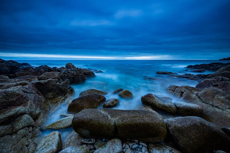 Brittany, France Blue Nature No People Rock Formation Clouds And Sky Bretagne Sky Ocean Outdoors Rock - Object Long Exposure
