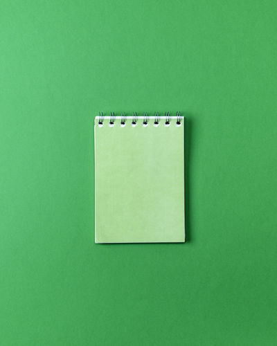 Green Color Copy Space Cut Out Green Background Indoors  Studio Shot Colored Background No People Single Object Close-up Paper Still Life Geometric Shape Blank Reminder Table