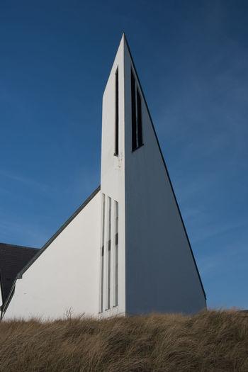 Built structure against clear blue sky