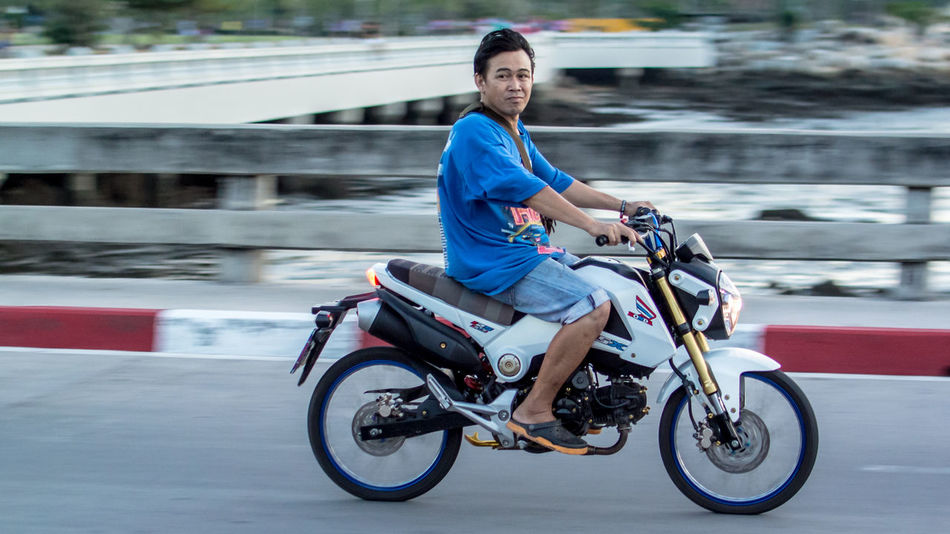 Motorbike at street Blurred Motion Land Vehicle Looking At Camera Men Mode Of Transport Motorbike Motorcycle Motorcycle Motorcycle Lover Motorcycle Photography Motorcyclepeople Real People Seaside Side View Sitting Street Street Photography Transportation Travel Travel Photography