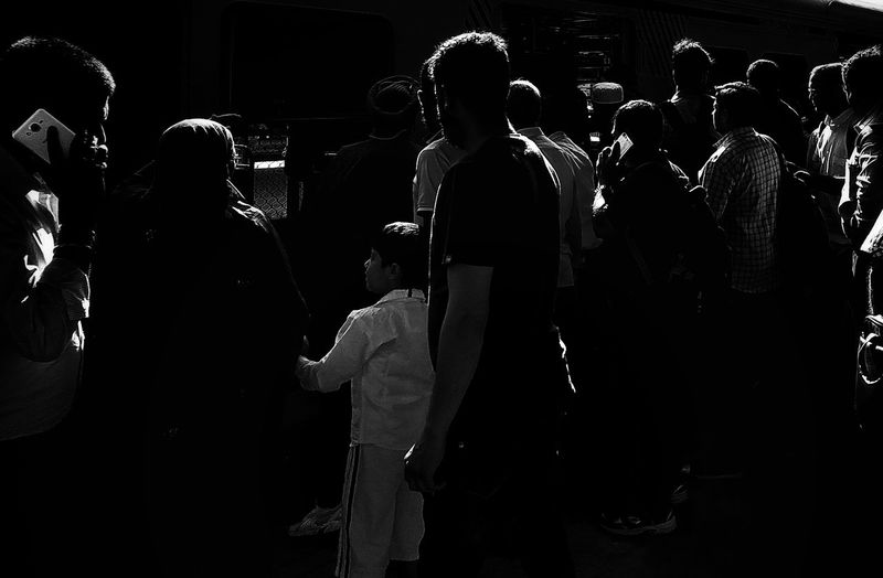 Silhouette People Outdoors Black And White Lighting Equipment Black & White Blackandwhite Photography Black&white Monochrome _ Collection Blackandwhite Street Photography Streetphotography Monochrome Monochrome Photography Mumbai Mumbaistreets Monochromatic City Large Group Of People Silhouette Mumbailocaltrain The City Light Black And White Friday The Street Photographer - 2018 EyeEm Awards HUAWEI Photo Award: After Dark