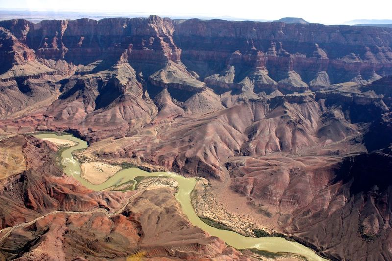 Canyon Colorado River Extreme Terrain Flying High Geology Grand Canyon Landscape Layered Nature No People Outdoors Physical Geography Rock - Object Rock Formation Scenics