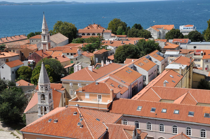 Aerial view of the Stari Grad (Old Town) of the Unesco heritage city of Zadar, Croatia Croatia Drone  Mediterranean  Zadar Zadar,Croatia Architecture Bell Tower Building Exterior Built Structure City Drone Photography Dronephotography Droneshot Europe High Angle View House Old Town Residential Building Roof Roof Tile Sea Tiled Roof  Tourist Destination Town Water