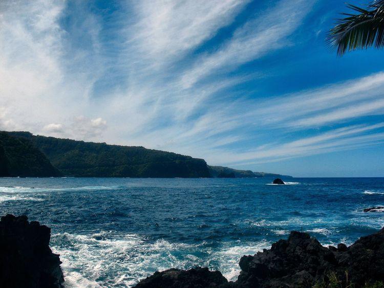 Blue Wave Blue Blue Sky Blue Sea Sea And Sky Seascape Sea View Maui Maui Hawaii Mauiphotography