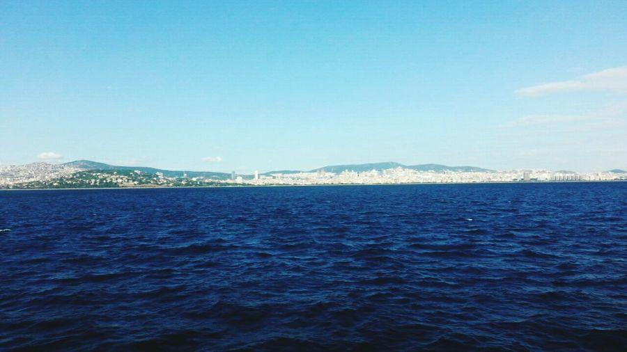 Blue Sea Water Snapchat Isranbul Ship