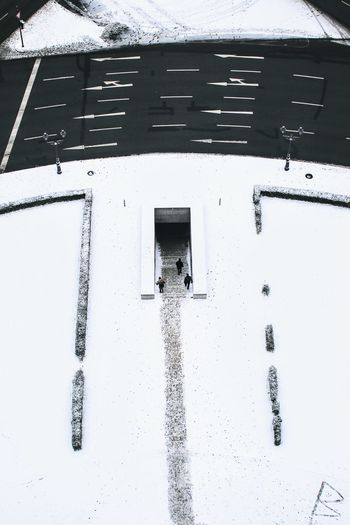 Winter Snow Cold Temperature Weather White Color Built Structure Building Exterior People Architecture Day Outdoors White Close-up Nature