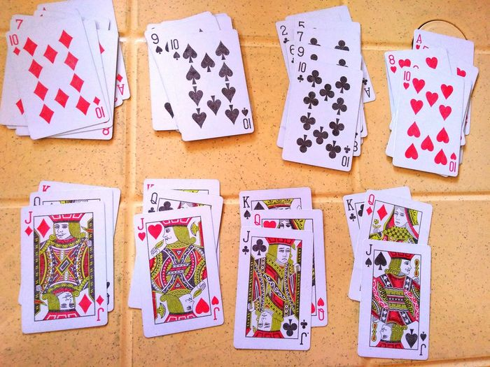 Today is my lucky day 😂💪 #pattern #cards #LUCKY #MyDay  #deck Multi Colored Neat Variation In A Row