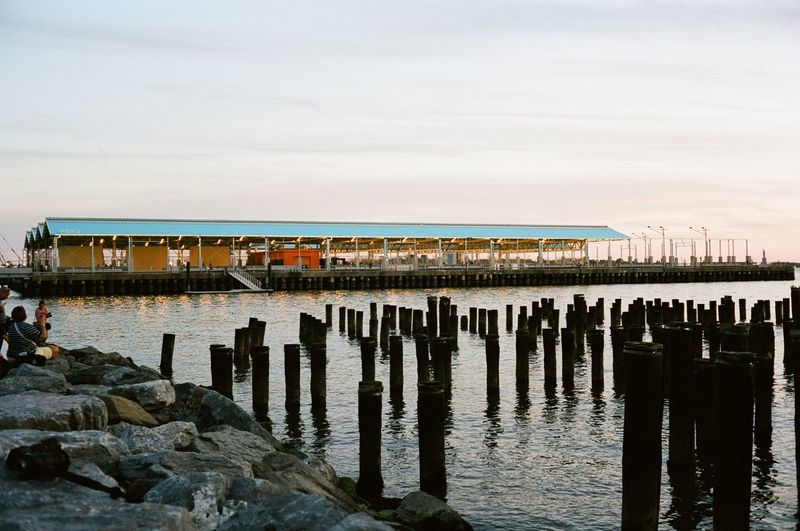 Pier 2, Brooklyn Bridge Park, June 2016 Brooklyn Bridge Park Brooklyn NYC Pier Sunset Eastriver East River Film Film Photography Canonet Canonetql17giii Kodak Portra 400 Kodak Portra Kodak 35mm Film Ishootfilm 40mm Showcase June Eyeemphoto