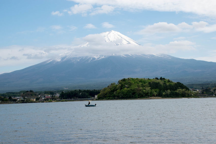 Hanging out in Japan Connected By Travel Japan Beauty In Nature Fuji Landscape Mountain Nature Scenery Sky Water