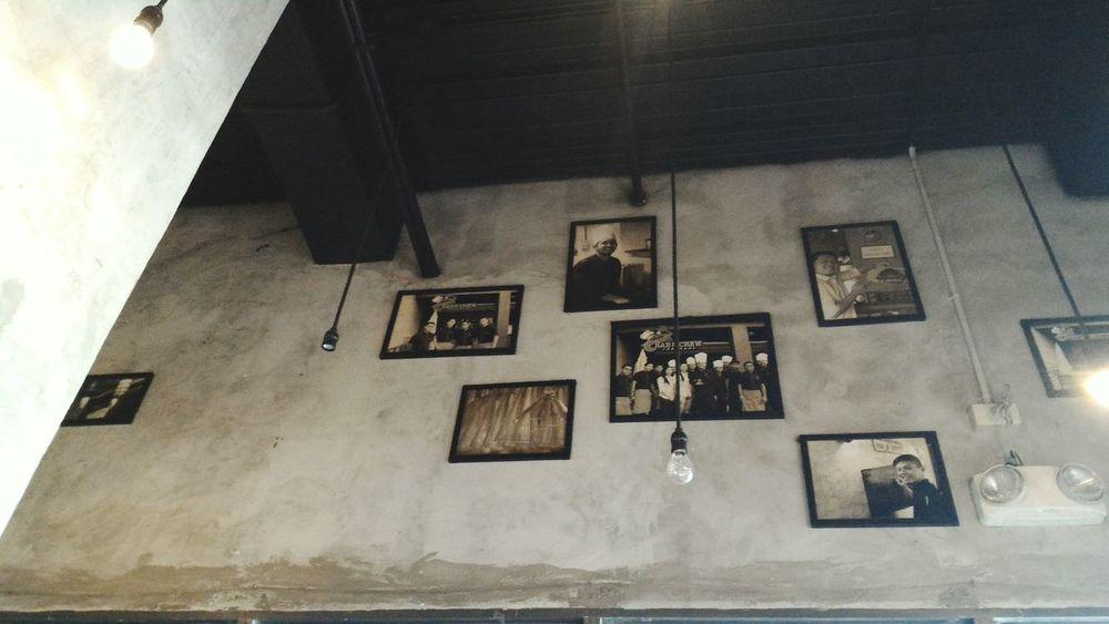 Interior Views raw concrete finish Crabncrew Pictureframe Memories WallDecor