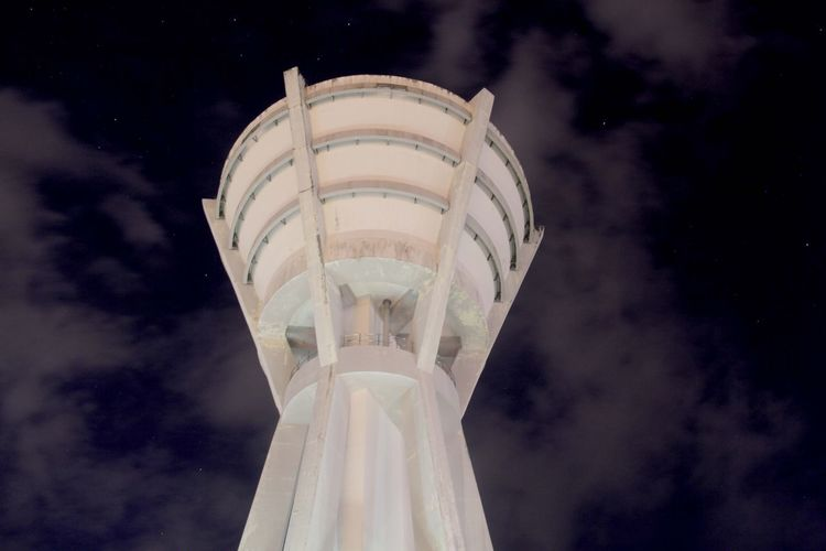 Unimas Water Tower Night Photography The Beauty Of Night Falling Stars Relaxing Testing Tesing, 1 2 3 Canon60d Sky And Clouds