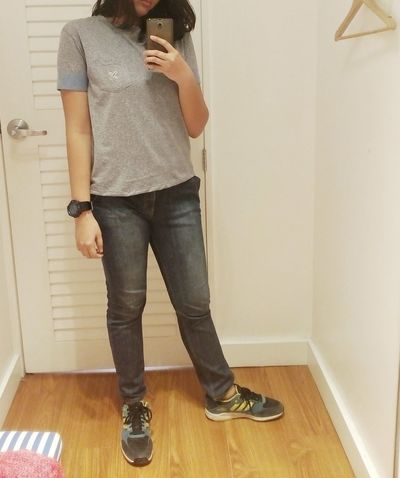Most exciting feeling while shopping : fitting the clothes then looking yourself in the mirror. Live Love Shop Fitting Room Self Portrait Selfie Favorite Store CropTop Ootd Christmas Outfit Shopping Store Sm North Edsa Quezon City Philippines