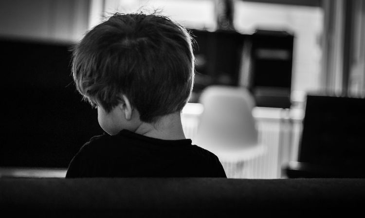 Innocence At Home Blackandwhite Home Boy Family Portrait Child Interior Little Boy Son Sofa Living Room Headshot Indoors  LeicaM9 Autumn Mood Portrait From Behind Focus On Foreground Profile View EyeEmNewHere Daylight In The Room Hair Shining In The Sun This Is Natural Beauty Leica M9