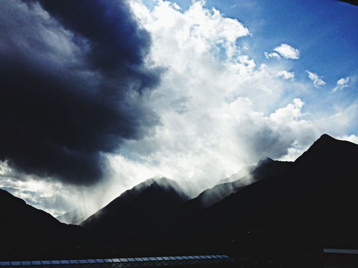 Mountains Rain Distance Weather