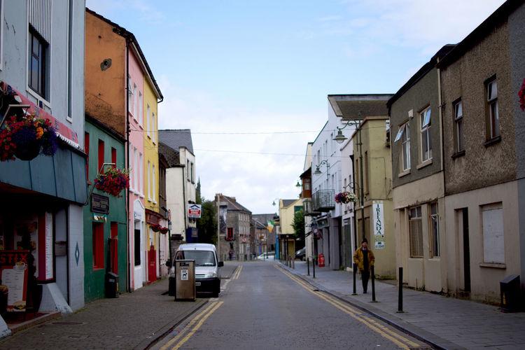 Narrow street in city