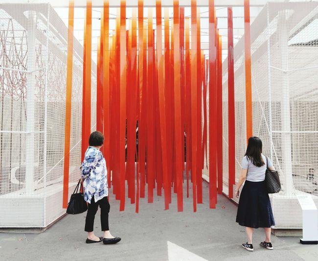 Melbourne Outdoors Good Art Installation Art Day Orange Pop Popart Strips Pattern