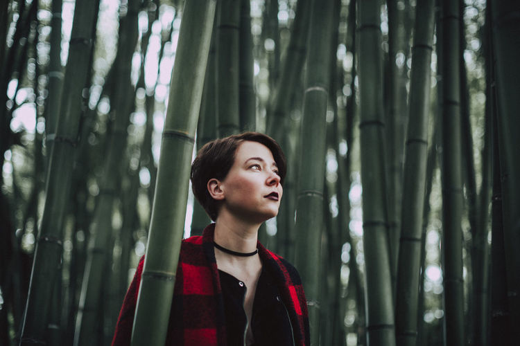 Wanderlust Bamboo - Plant Bamboo Grove Beauty In Nature Day Forest Front View Growth Italy Lifestyles Nature One Person Outdoor Photography Outdoors People Real People Travel Destinations Tree Young Adult Young Women