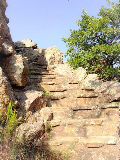 Yay, stairs! I think I went the long way? Hiking Oklahoma