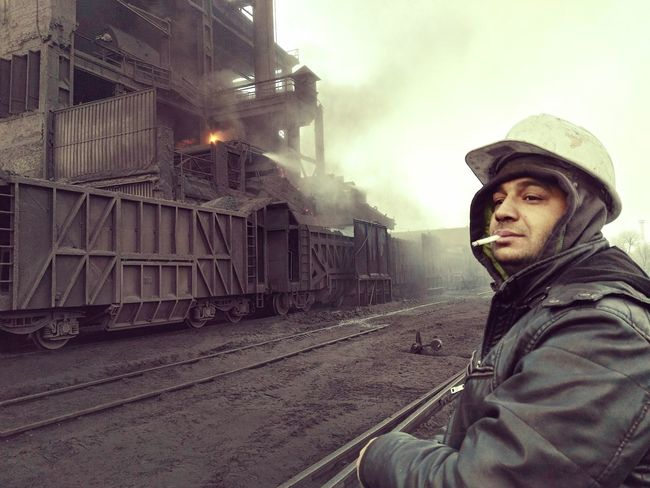factory worker Adult Cold Factory Workers Men Only Men Physical Work Smoking Wagon