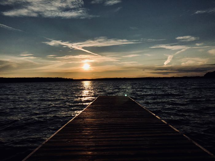 Lake Eugenia, Canada Canada Lake Water Sky Sunset Sea Scenics - Nature Beauty In Nature Cloud - Sky Tranquil Scene Tranquility Nature Pier No People Reflection Idyllic Outdoors Non-urban Scene Sunlight Horizon Jetty Horizon Over Water HUAWEI Photo Award: After Dark