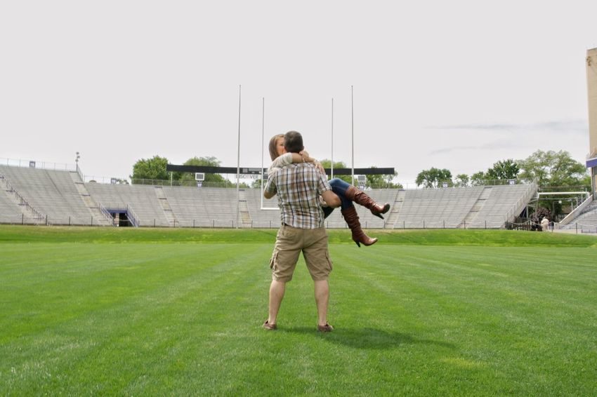 Football Football Stadium Football Couple Football Engagement Football Lovers Man Holding Woman Canon Rebel Xti