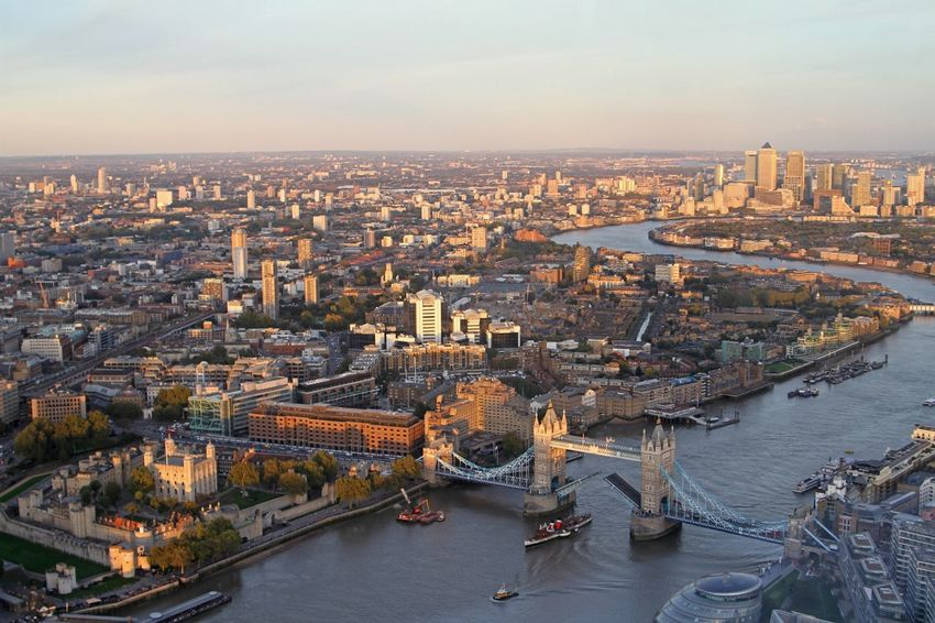 Architecture City Cityscape River Built Structure Building Exterior Bridge - Man Made Structure Transportation Connection Water No People Nautical Vessel Outdoors Sky Cultures Day London Lifestyle View From The Shard Tower Bridge  Tower Of London EyeEm LOST IN London
