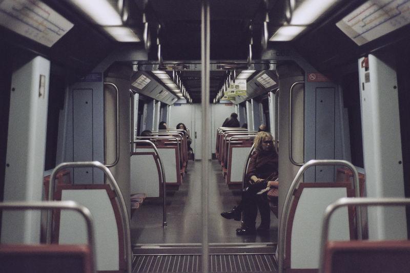 Ways Of Seeing Light Metro Transportation Underground Film Photography People Pole Subway